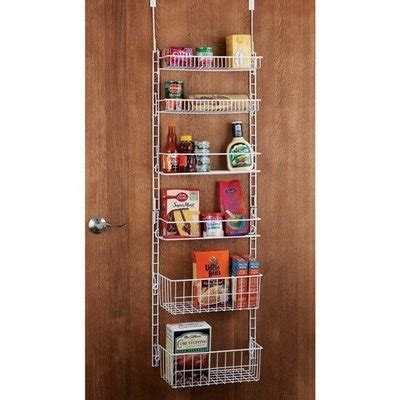 deluxe 6 shelf adjustable pantry door rack