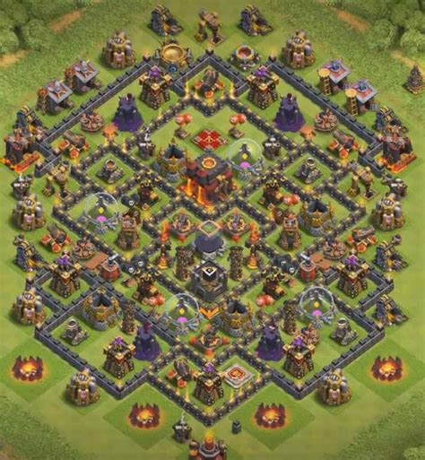 clash of clans th10 trophy layout 10 best th10 hybrid bases with 2017 cocbases