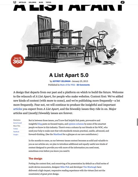A List Appart by A List Apart 5 0 Fonts In Use