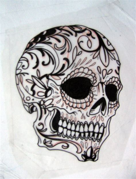 sugar skull tattoo outlines pictures sugar skull outline union drawings t tt00 l0ve
