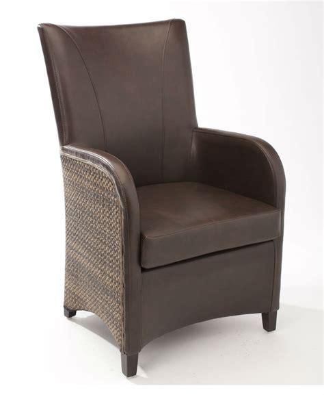 fauteuil salle a manger fauteuil de salle 224 manger en cuir synth 233 tique brin d ouest