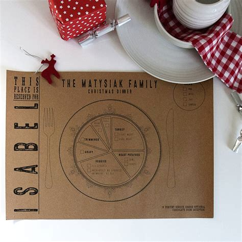 How To Make Paper Placemats - personalised kraft paper place mats by betsy