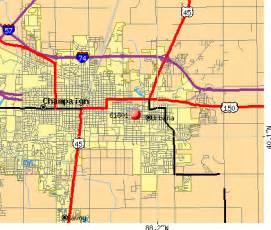 Champaign Il Zip Code Map by 61801 Zip Code Urbana Illinois Profile Homes