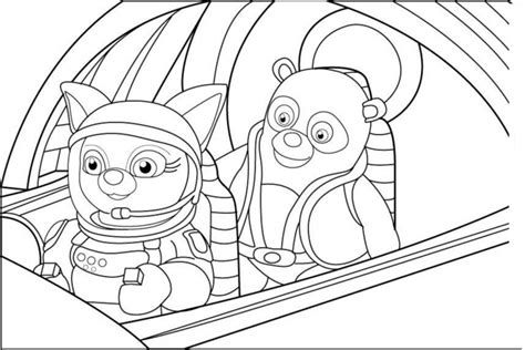 special agent oso pages snow coloring pages