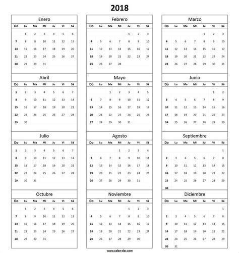 Calendario 2018 Colombia Pdf Calendario 2018 Para Imprimir Por Meses Proyectos Que