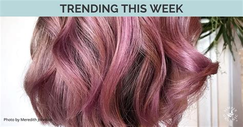 whats new and trending in hair trending hair colors this week with formulas simply