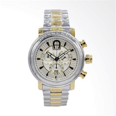 Jam Tangan Pria Wanita Aigner Bari Blue Gold jual aigner bari chronograph stainless jam tangan pria silver gold a37518 harga