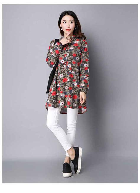 Kemeja Lengan Panjang Motif Bunga blouse motif bunga lengan panjang murah myrosefashion