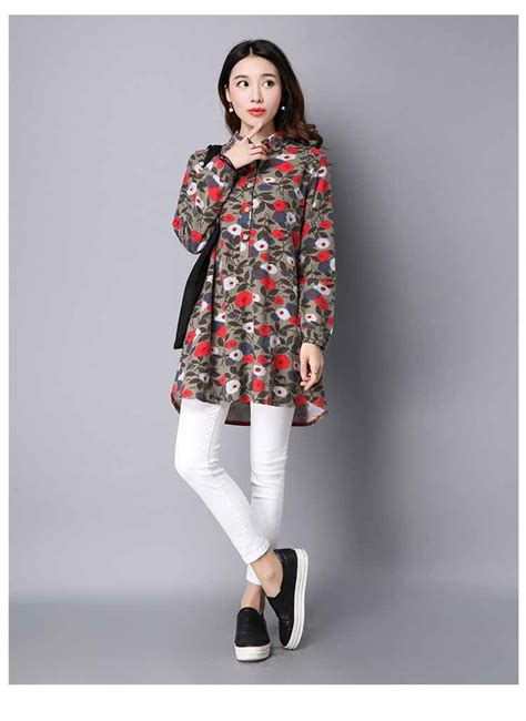 blouse motif bunga lengan panjang murah myrosefashion