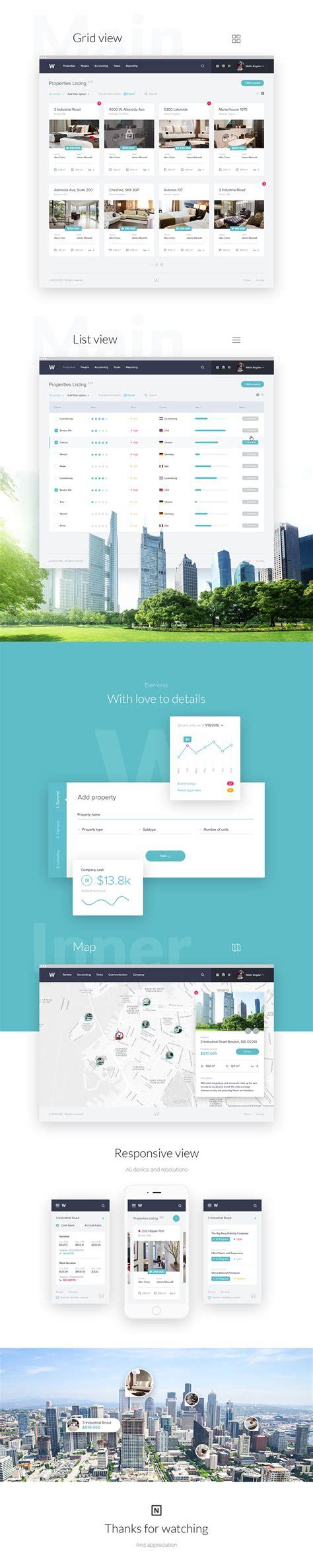 real estate website design on pantone canvas gallery