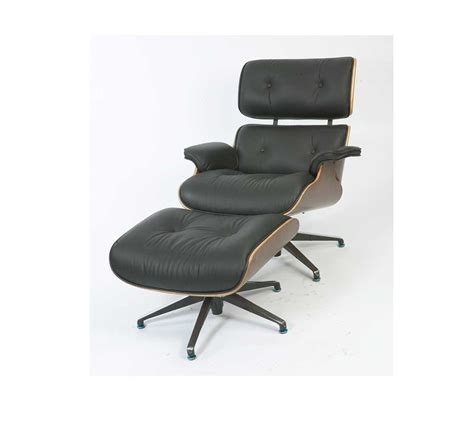 armchair stool eames black leather armchair stool mediacityfurniturehire