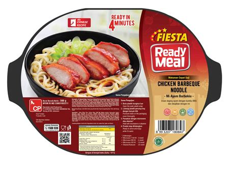 fiesta ready meal chicken barbeque noodle gr cp food