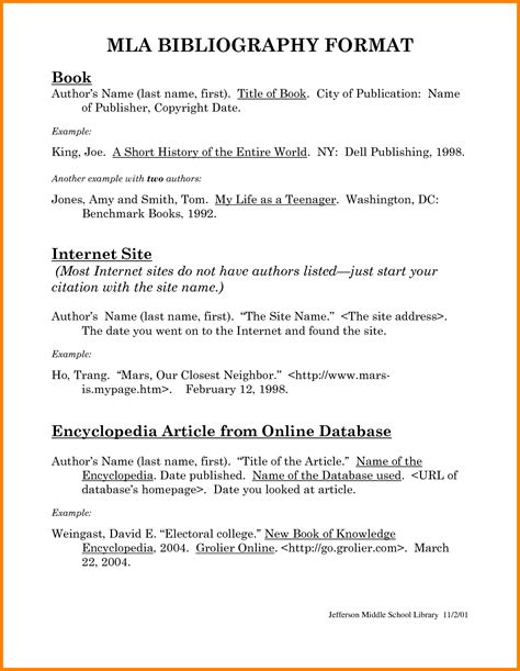mla format bibliography exle physics pinterest
