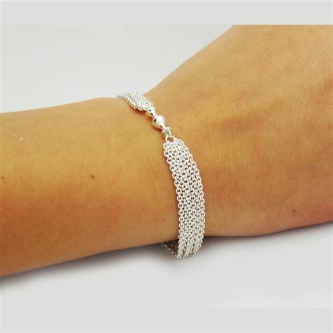 pandora 925 sterling silver multi strand chain one clip