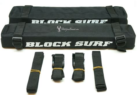 Surfboard Roof Rack Pads And Straps blocksurf roof rack pads with tie straps storeyourboard