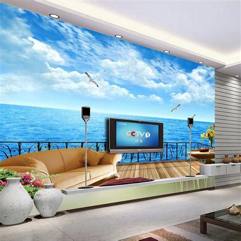 hd wall murals free shipping modern wall 3d murals wallpaper hd seaview 3d mural for tv sofa background wall