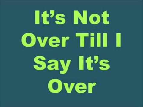 I Say It by It S Not Till I Say It S Original Song