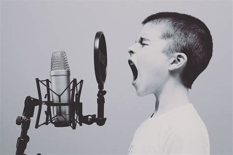 condenser microphone for screaming free photo microphone boy studio screaming free image on pixabay 1209816