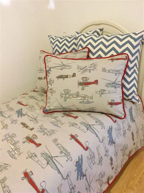 airplane bedding twin vintage air twin full queen size bedding made to order