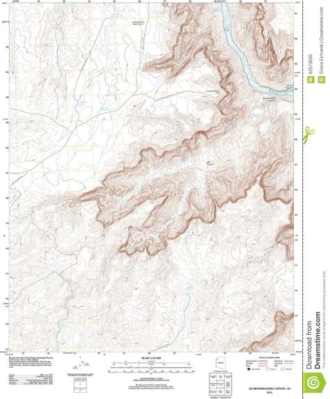 topographic map of the grand stock illustration