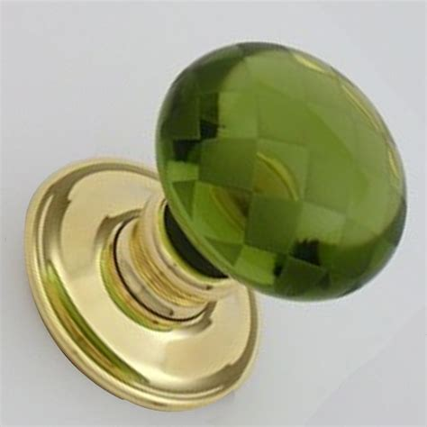Green Glass Door Knobs by Snobsknobs Peridot Green Chequerboard Door Knobs Snobsknobs
