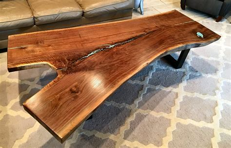 walnut coffee table legs live edge tables benches abp works