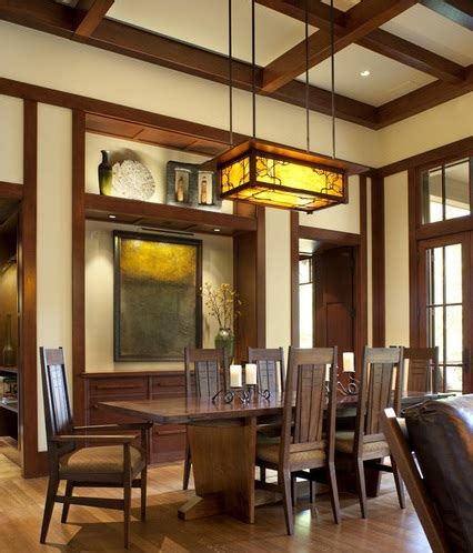 Craftsman Style Lighting In Traditional Dining Room Craftsman Style Lighting Dining Room