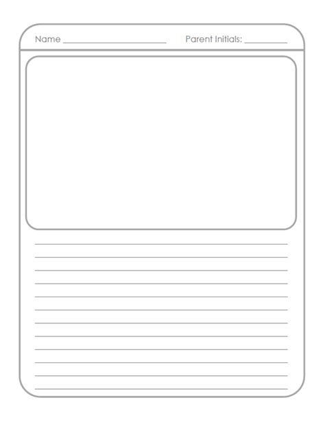 Writing Homework For Grade by Story Writing Paper For 2nd Grade Writing