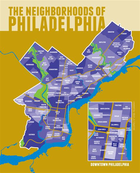 map of philadelphia one take on philadelphia neighborhoods philly