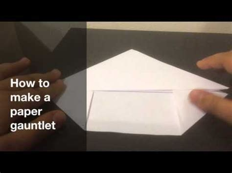 Origami Gauntlet - how to make an origami snake