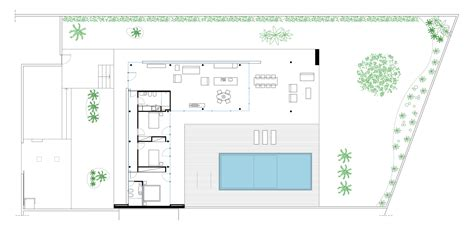 Pool House Plans Gallery Of Villa Gm Architrend Architecture 16