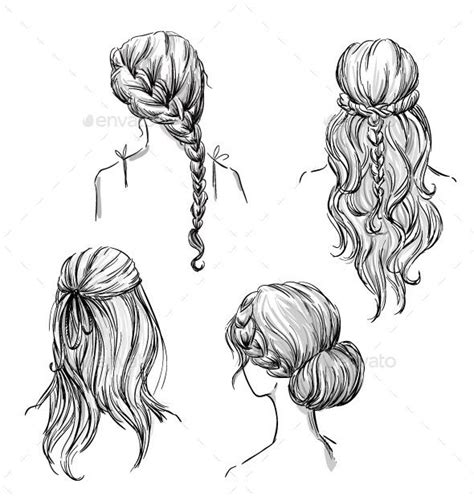 hairstyles drawing girl 39 best vector croquis images on pinterest fashion