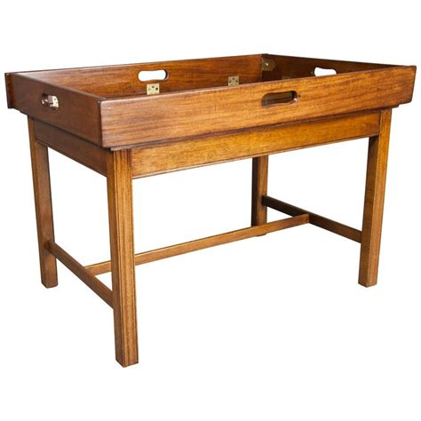 Tray Coffee Table Mahogany Caign Style Butlers Tray Coffee Table At 1stdibs