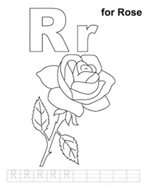 R Coloring Page R Coloring Page Run Free Alphabet Coloring Pages For The Letter R Preschool