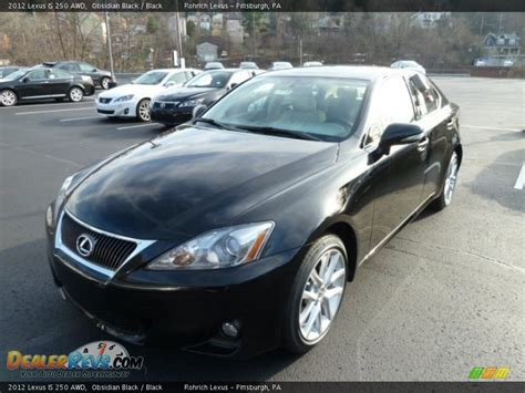 black lexus 2012 2012 lexus is 250 awd obsidian black black photo 8