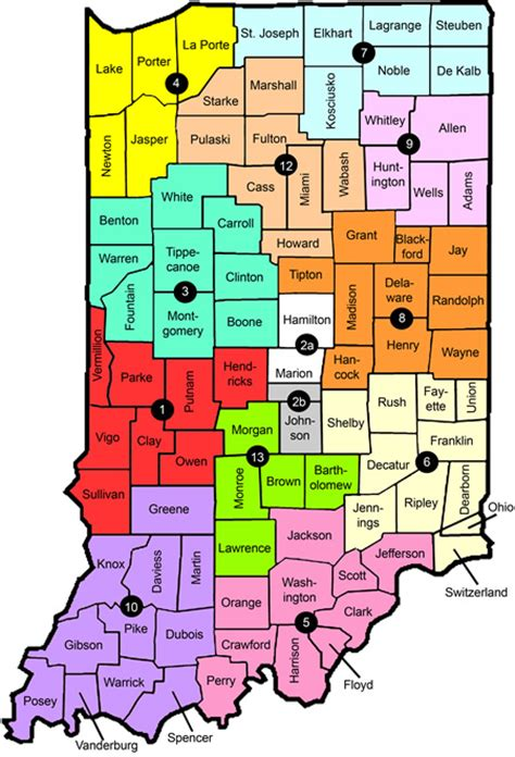 School District Search By Home Address Indiana School District Map Indiana Map