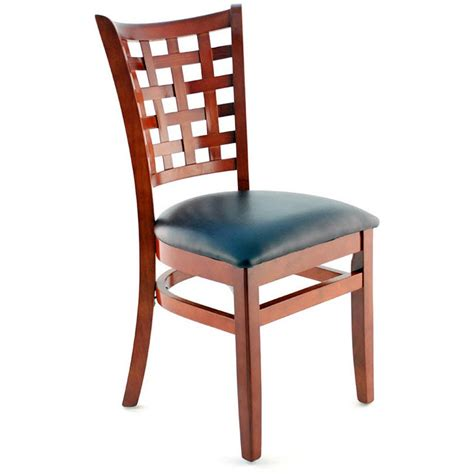 Premium Chairs by Premium Us Made Lattice Back Wood Chair