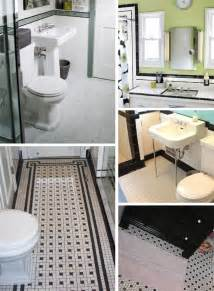 Black And White Tiled Bathrooms Black And White Tile Bathrooms Done 6 Different Ways