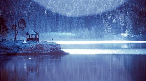frozen wallpaper widescreen frozen lake near the forest hd desktop wallpaper