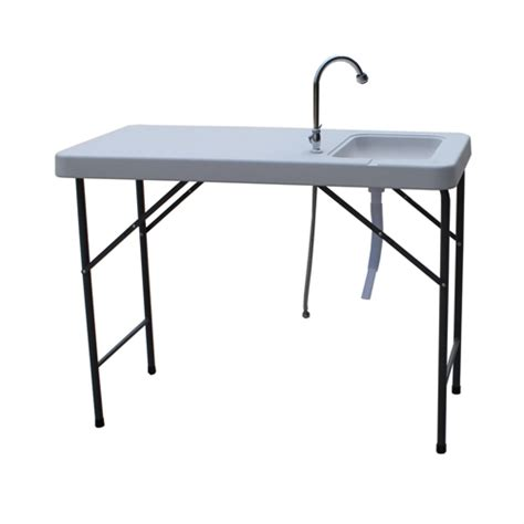 Palm Springs Folding Plastic Table With Sink Tap The
