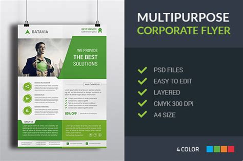 19 professional flyer templates free psd eps ai