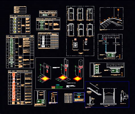 exit layout view autocad emergency exit dwg detail for autocad designs cad