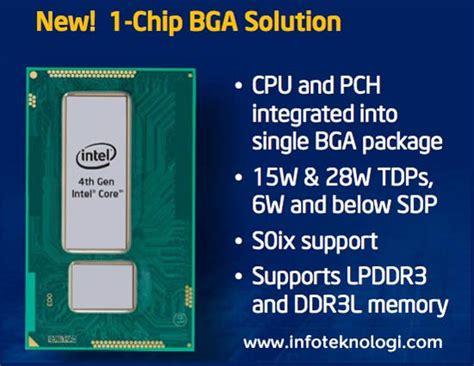 intel memperkenalkan chip prosesor haswell tanpa kipas