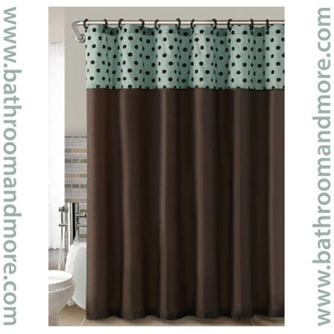 teal blue brown shower curtain