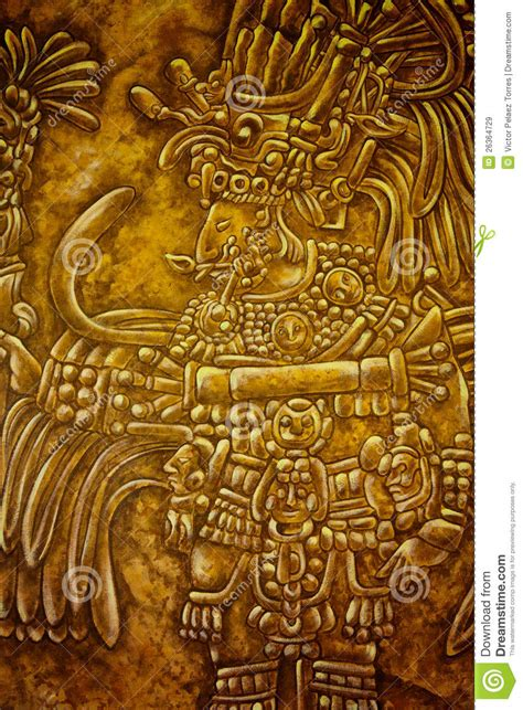 mayan art stock image image  illustration american