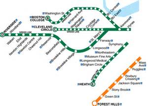 Mbta Green Line Map by Boston Subway Map Green Line World Map Weltkarte Peta