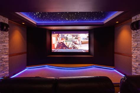 modern home theater home theater room night sky