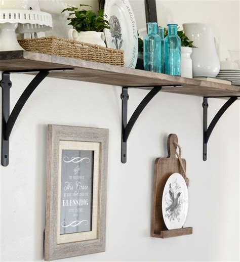 diy home depot my new open kitchen shelf and roman numeral print coupon