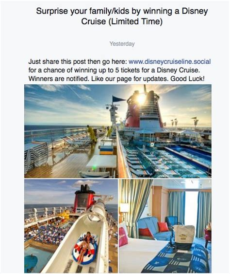 Cruise Giveaway Scams - 7 signs that awesome facebook competition is a scam mum s lounge