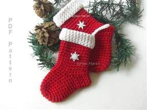 crochet christmas stocking ornament pattern crochet colorful